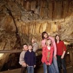 Family-cave-tour-at-Glenwood-Caverns