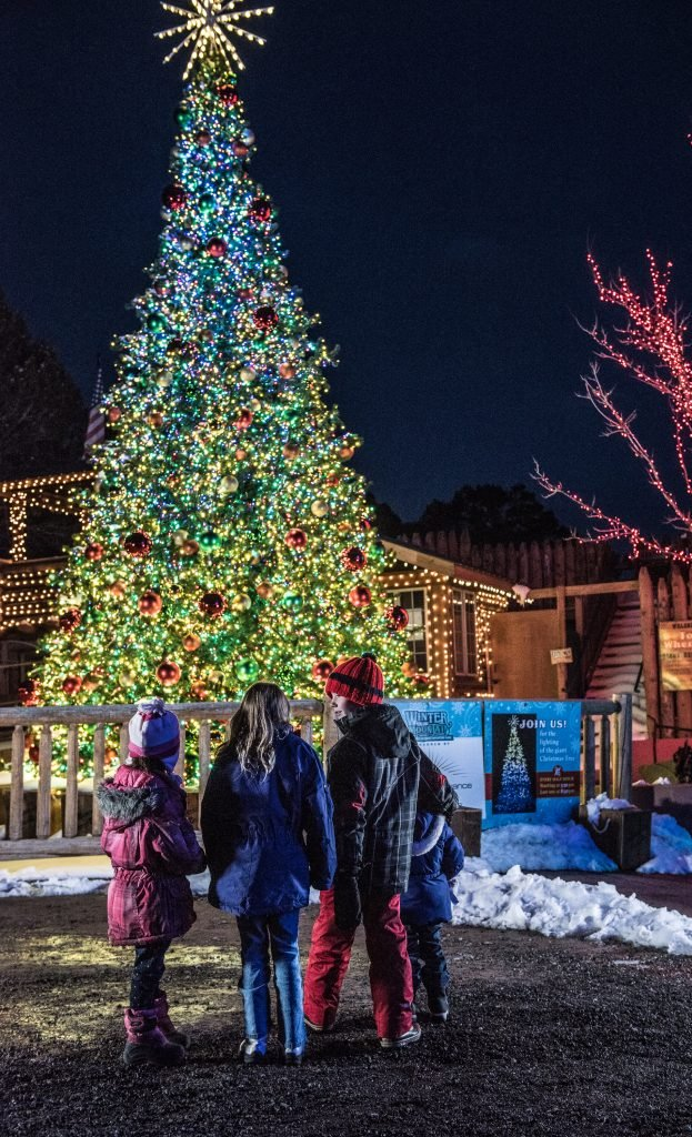 Glenwood Springs holiday traditions include Winter on the Mountain at Glenwood Caverns Adventure Park