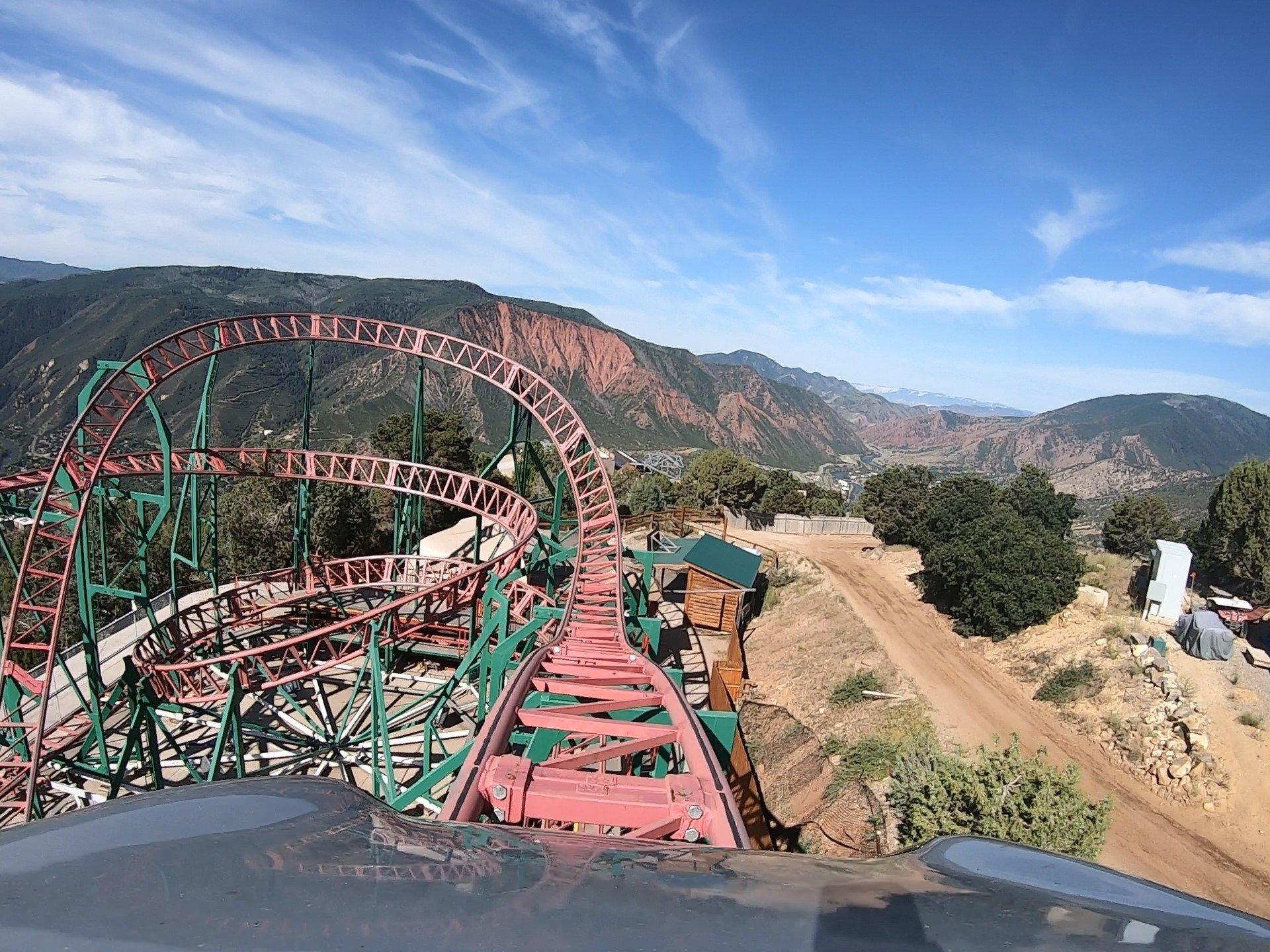 Cliffhanger Roller Coaster Front Seat POV