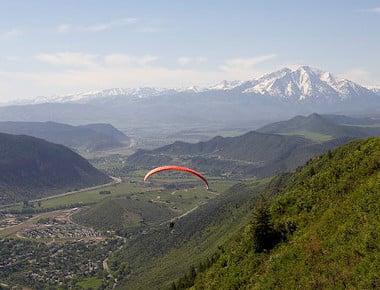 Glenwood Springs Paragliding with Mt. Sopris